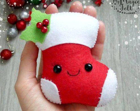sock of Christmas souvenir felt