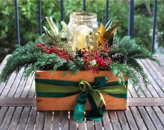 mini garden as a Christmas souvenir