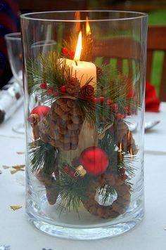 decorative candle as a Christmas souvenir