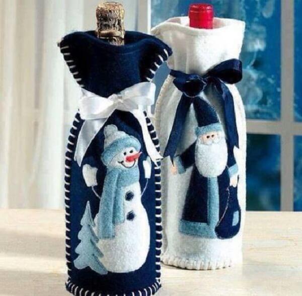 Christmas souvenir wine bottle bags