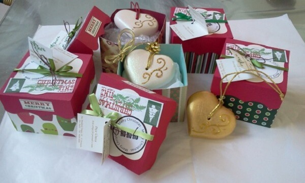 Christmas souvenir soap box