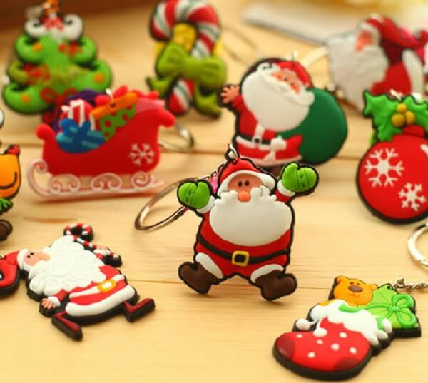 Keychain Christmas souvenir in biscuit