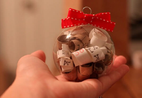 Christmas souvenir with message