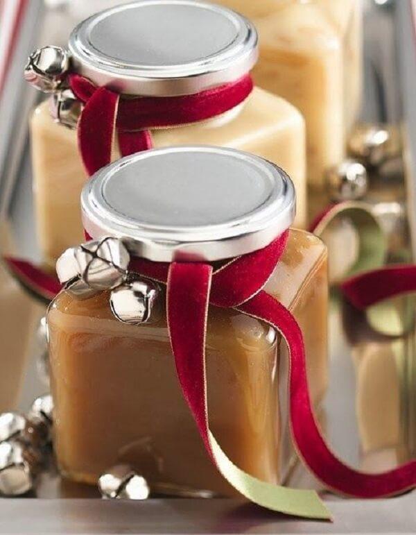 Sweet Christmas souvenir in a jar