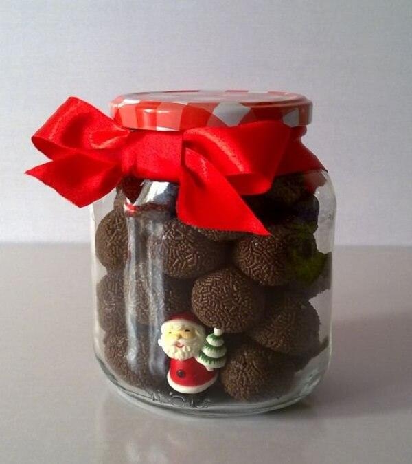 Christmas souvenir jar with brigadiers