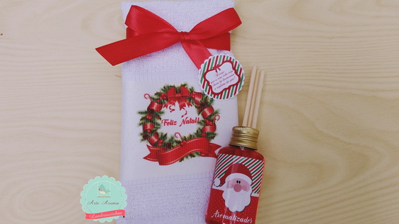Christmas souvenir towel and aroma kit