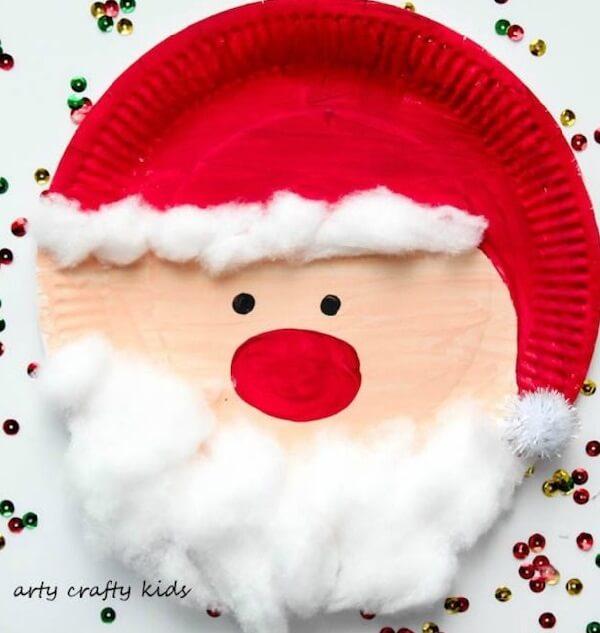 Santa on the plate can become a creative Christmas souvenir