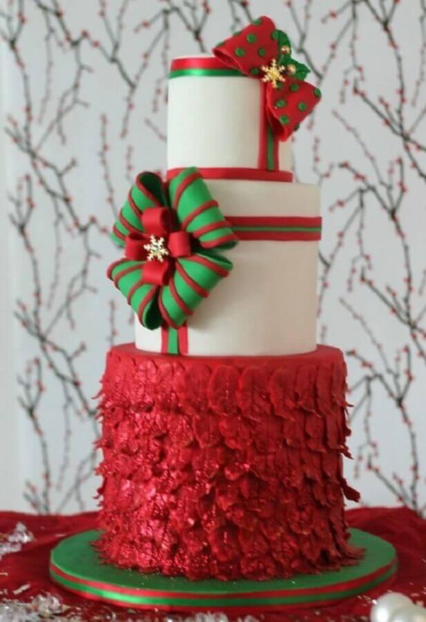 Christmas Cake 3 floors Photo My Lovely Food