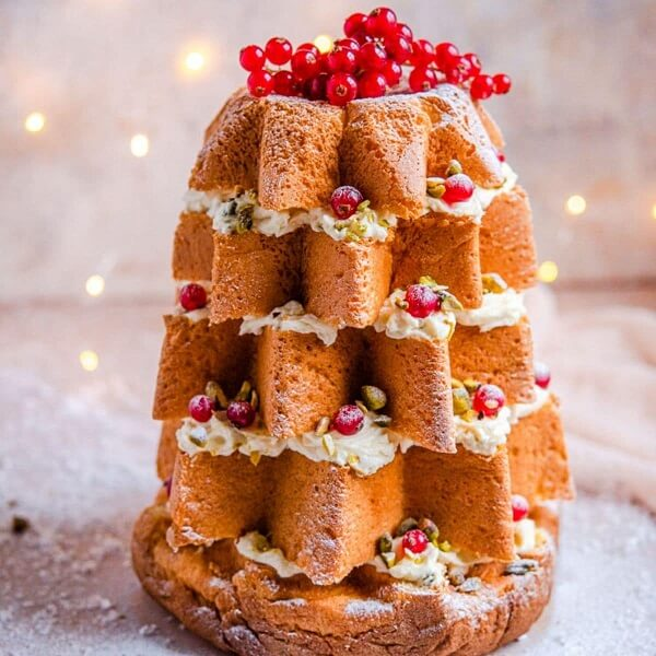 Pine shaped Christmas Cake