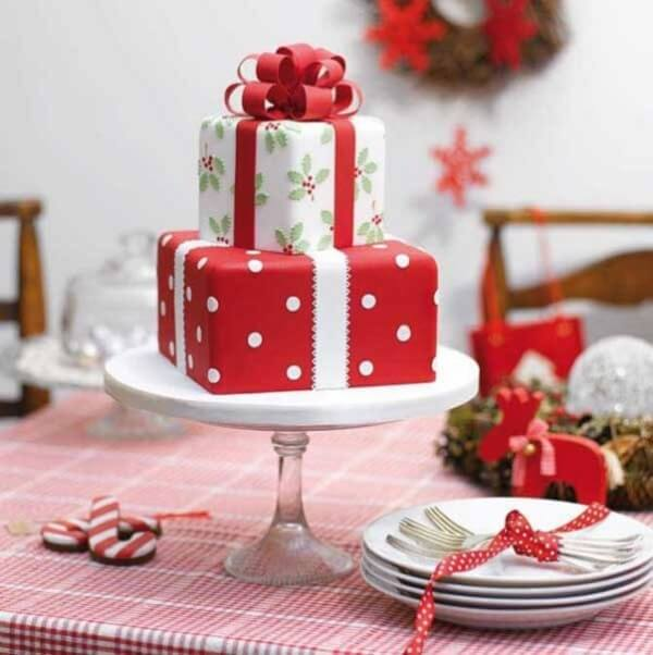 How about a Christmas cake in gift form?