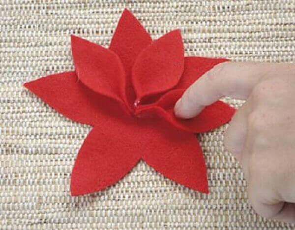 Christmas flower petadas