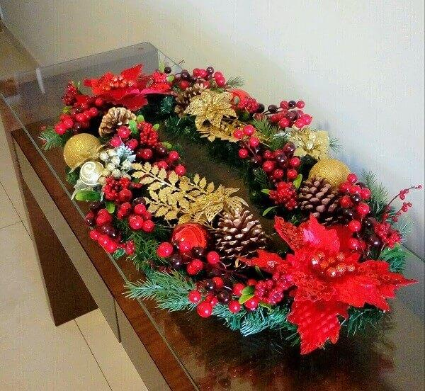 Christmas flower in handmade arrangement