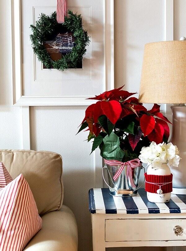 Christmas flower for corner table