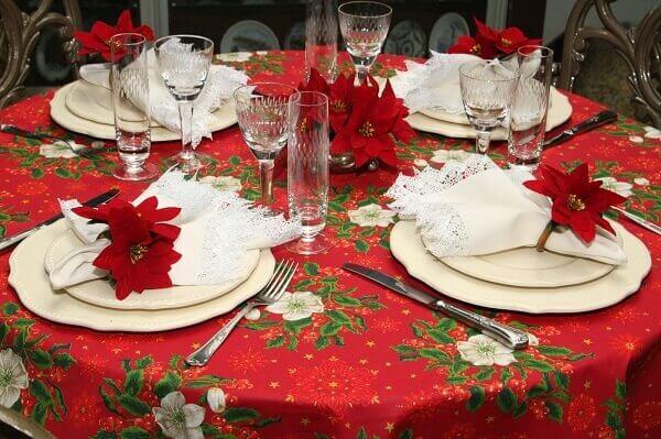 Christmas flower for table