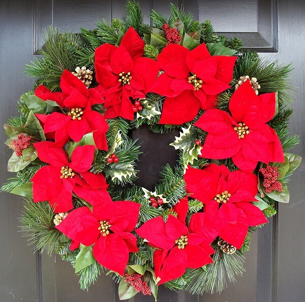 Christmas flower structured garland