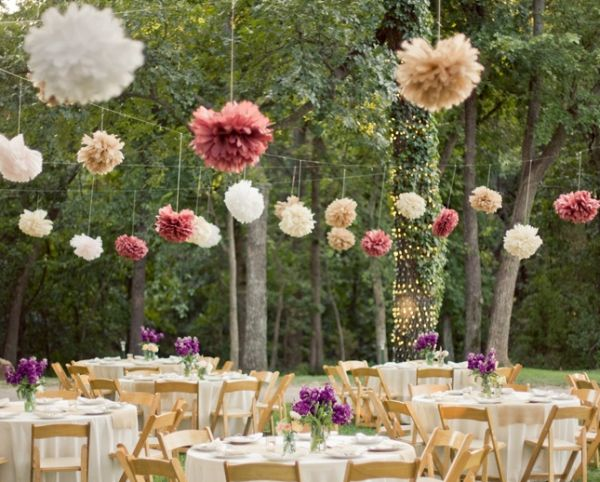 Decorative elements for rustic marriages