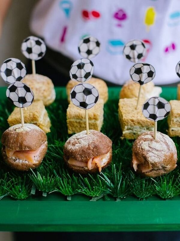 Creative appetizers for simple football theme party