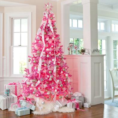 rose Christmas tree