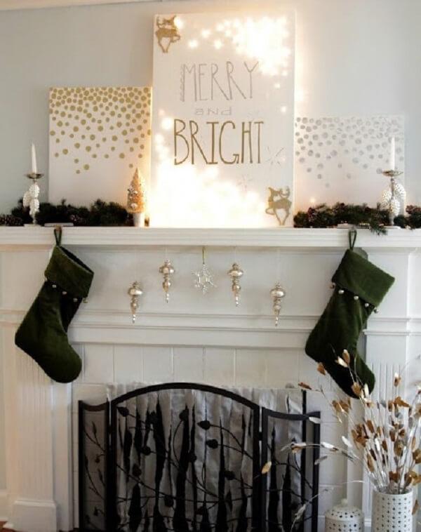 Christmas lights illuminated canvas
