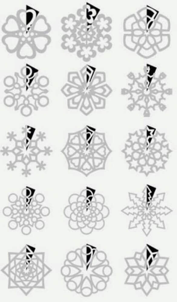 Snowflake mode to make Christmas decoration