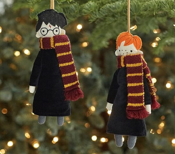 Christmas decorations inspired by characters from the movie Harry Potter