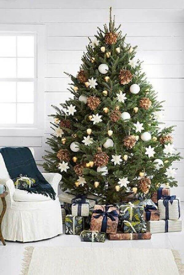 Christmas tree in small room