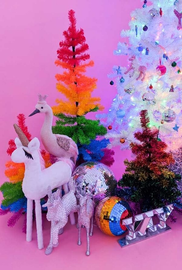 Christmas tree full of colors and brightness