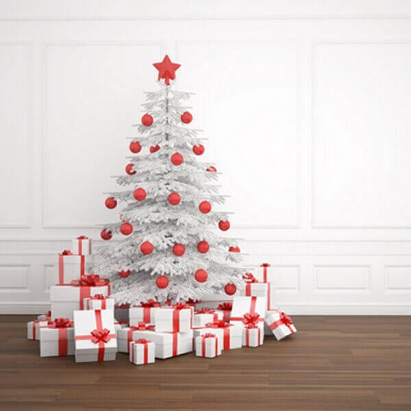 Christmas tree with white color