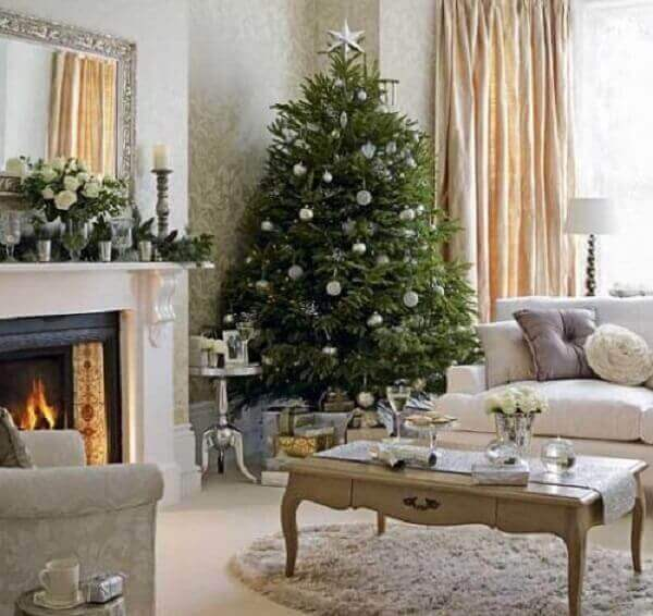 Christmas tree in large room