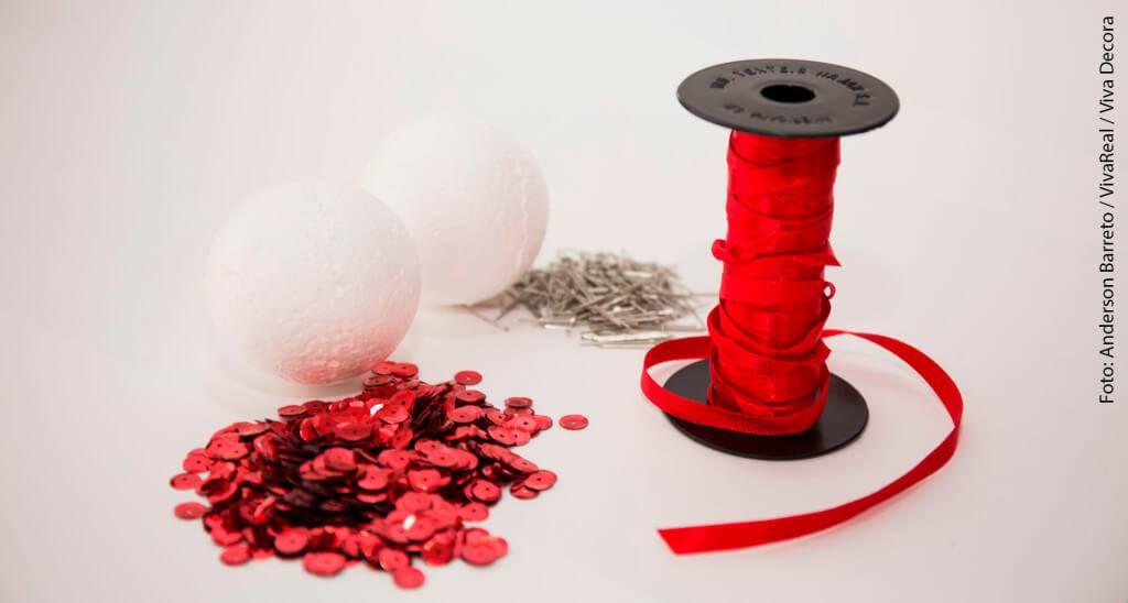 Material Christmas balls