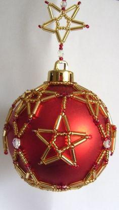 beaded-christmas crafts balls