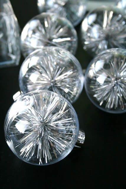 crystal Christmas balls