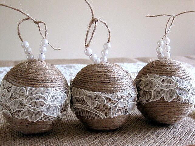 sisal Christmas balls