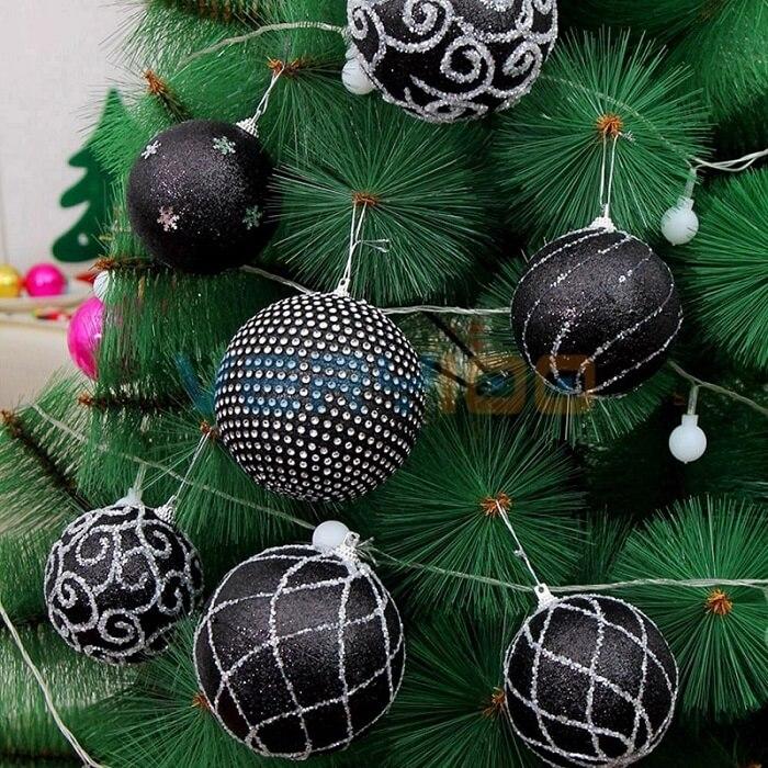 black Christmas balls