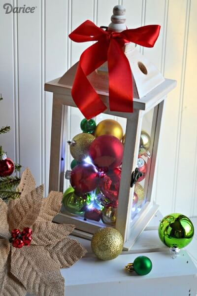 Red, green and gold Christmas balls Photo by Darice
