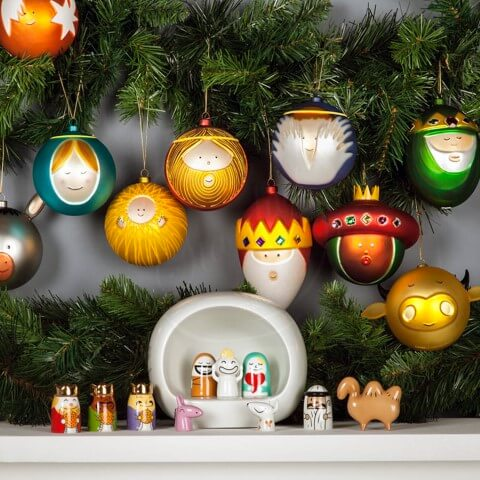 Christmas balls as Christmas characters Photo by Stardust Modern Design