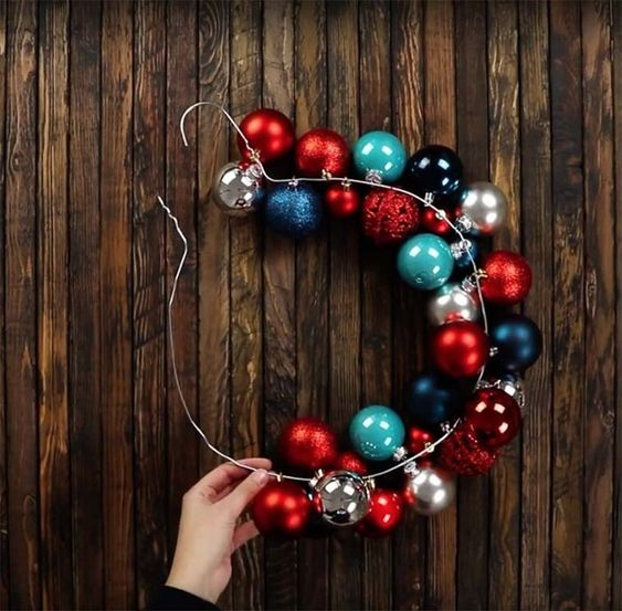 christmas balls - arrangement with christmas balls