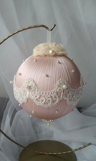 christmas balls - christmas ball with frills