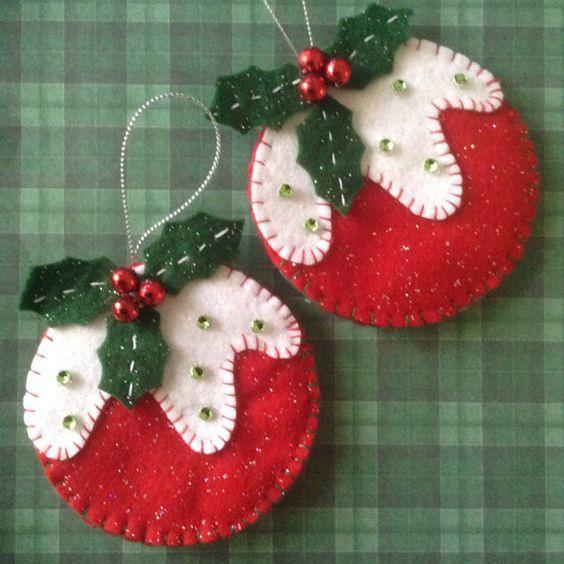 christmas balls - fabric christmas balls