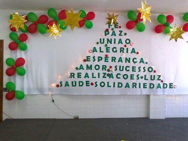 Christmas panel with phrases