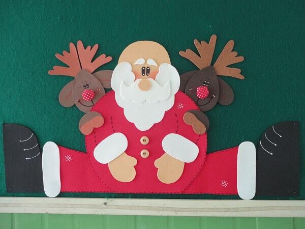 Christmas panel in EVA papa noel