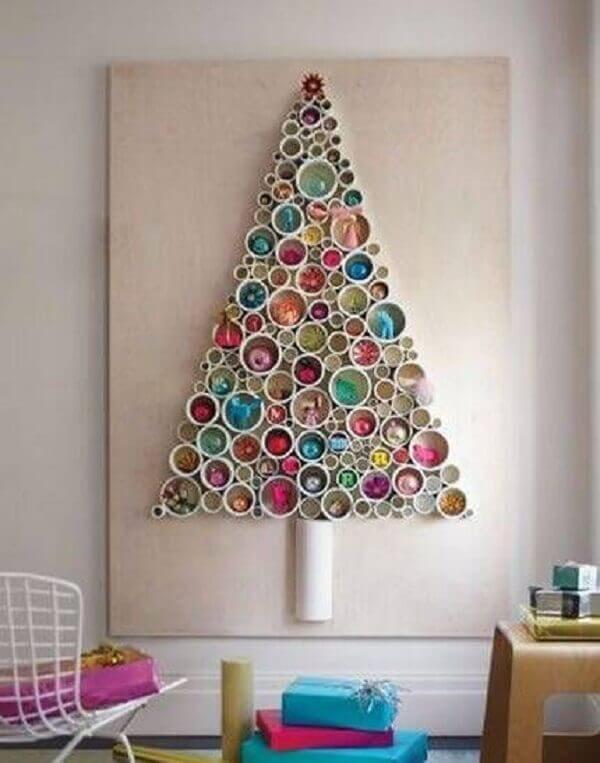 Recycled Christmas panel