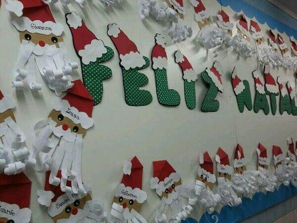 Christmas panel with paper