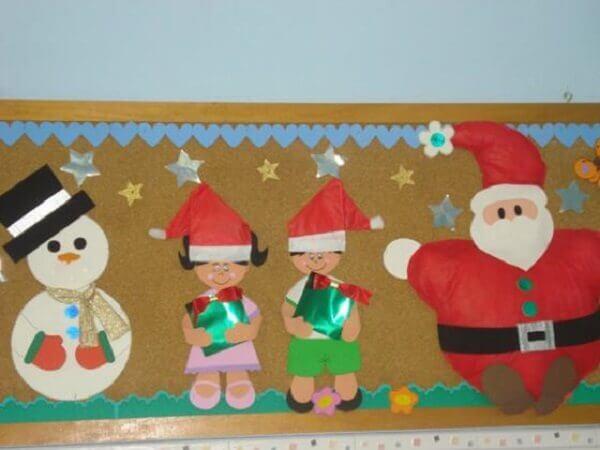 Christmas cardboard panel