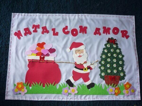 Fabric Christmas panel