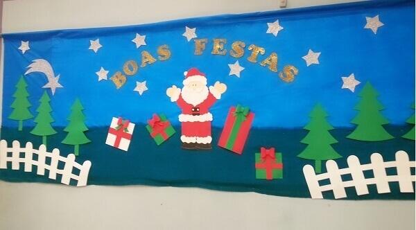 Large Christmas panel