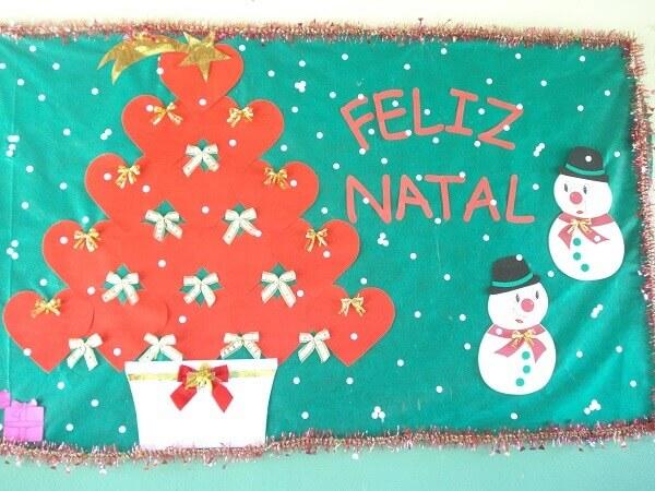 Christmas mural panel