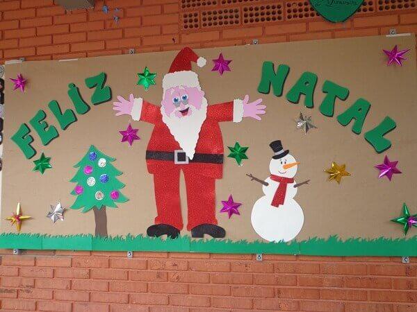 Christmas panel Santa Claus