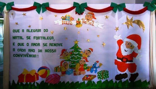 Colorful Christmas panel
