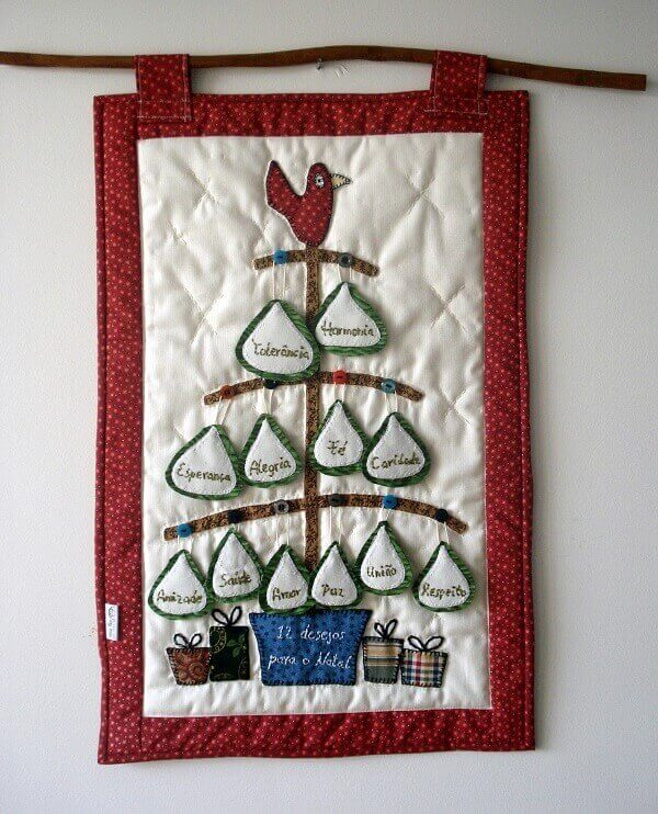 Christmas patchwork panel
